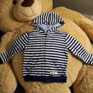 5t baby gap striped hoodie